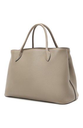 Женская сумка PRADA серого цвета, арт. 1BA579-2BBE-F0572-NOX | Фото 2 (Материал: Натуральная кожа; Ремень/цепочка: На ремешке; Сумки-технические: Сумки top-handle, Сумки через плечо)