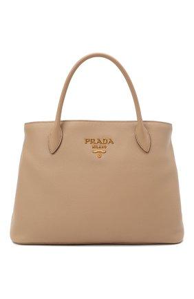 Женская сумка PRADA бежевого цвета, арт. 1BA579-2BBE-F0770-NOX | Фото 1