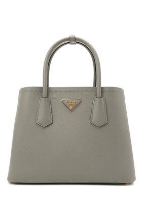 Женская сумка PRADA серого цвета, арт. 1BG887-2A4A-F01T3-OOO | Фото 1