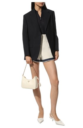 Женские кожаные туфли PRADA белого цвета, арт. 1I565M-055-F0009-A045 | Фото 2