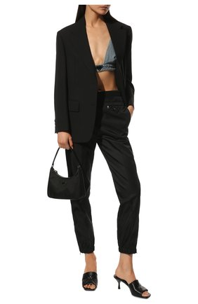 Женские кожаные мюли PRADA черного цвета, арт. 1XX583-038-F0002-B065 | Фото 2