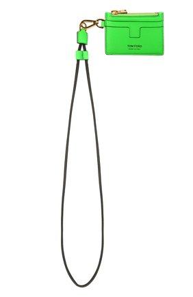 Мужской кожаный футляр для кредитных карт TOM FORD зеленого цвета, арт. Y0310T-LCL143 | Фото 4