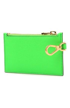 Мужской кожаный кошелек для монет TOM FORD зеленого цвета, арт. Y0313T-LCL143 | Фото 2