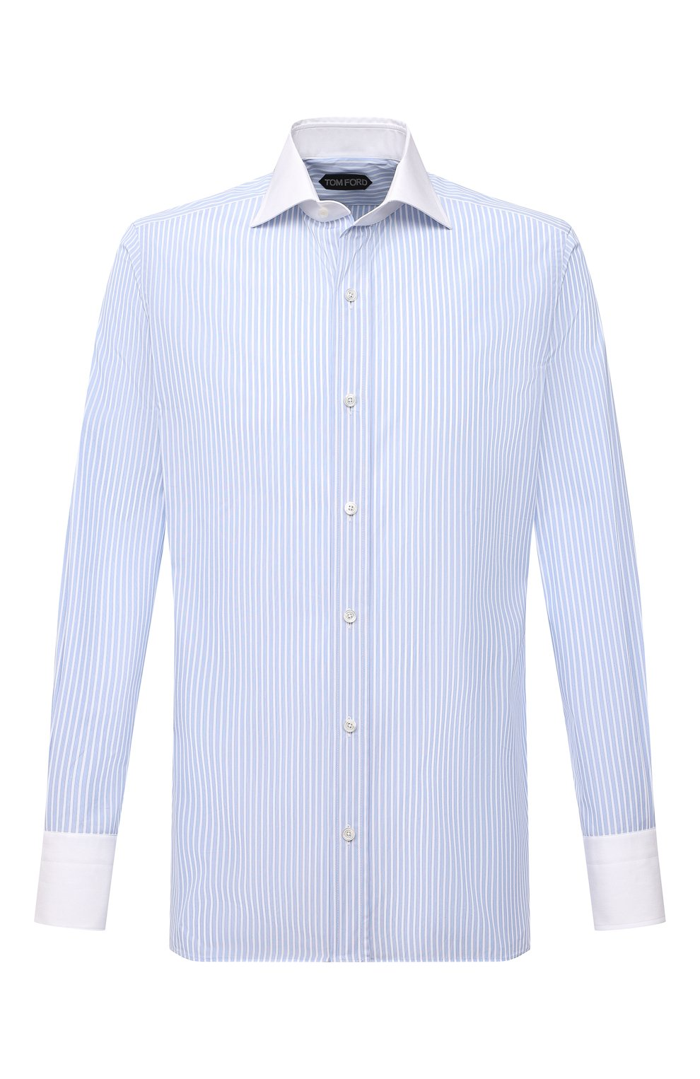 Мужская хлопковая сорочка TOM FORD голубого цвета, арт. 9FT283/94SWAX | Фото 1