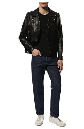 Мужские кожаные кеды malibu SAINT LAURENT белого цвета, арт. 649250/00NG0 | Фото 2