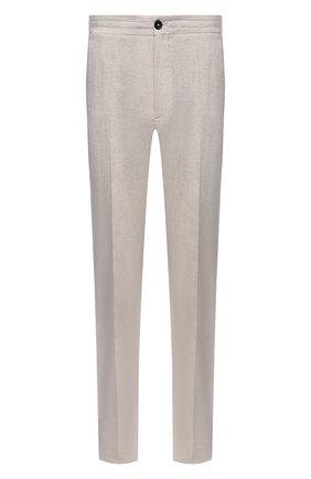 Мужские льняные брюки ERMENEGILDO ZEGNA бежевого цвета, арт. UUI32/TT11 | Фото 1