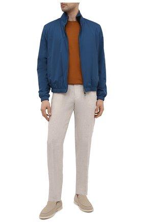 Мужские льняные брюки ERMENEGILDO ZEGNA бежевого цвета, арт. UUI32/TT11 | Фото 2