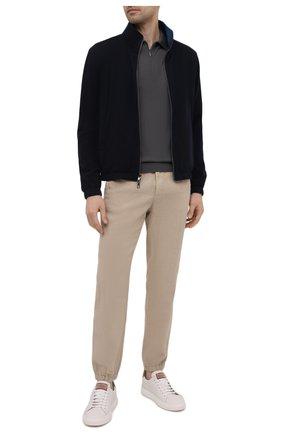 Мужские льняные джоггеры Z ZEGNA бежевого цвета, арт. VU160/ZZ346 | Фото 2 (Материал внешний: Лен; Длина (брюки, джинсы): Стандартные; Силуэт М (брюки): Джоггеры; Стили: Спорт-шик)