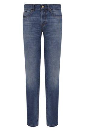 Мужские джинсы Z ZEGNA синего цвета, арт. VW781/ZZ533   Фото 1 (Материал внешний: Хлопок; Длина (брюки, джинсы): Стандартные; Силуэт М (брюки): Прямые; Кросс-КТ: Деним; Детали: Потертости; Стили: Кэжуэл)