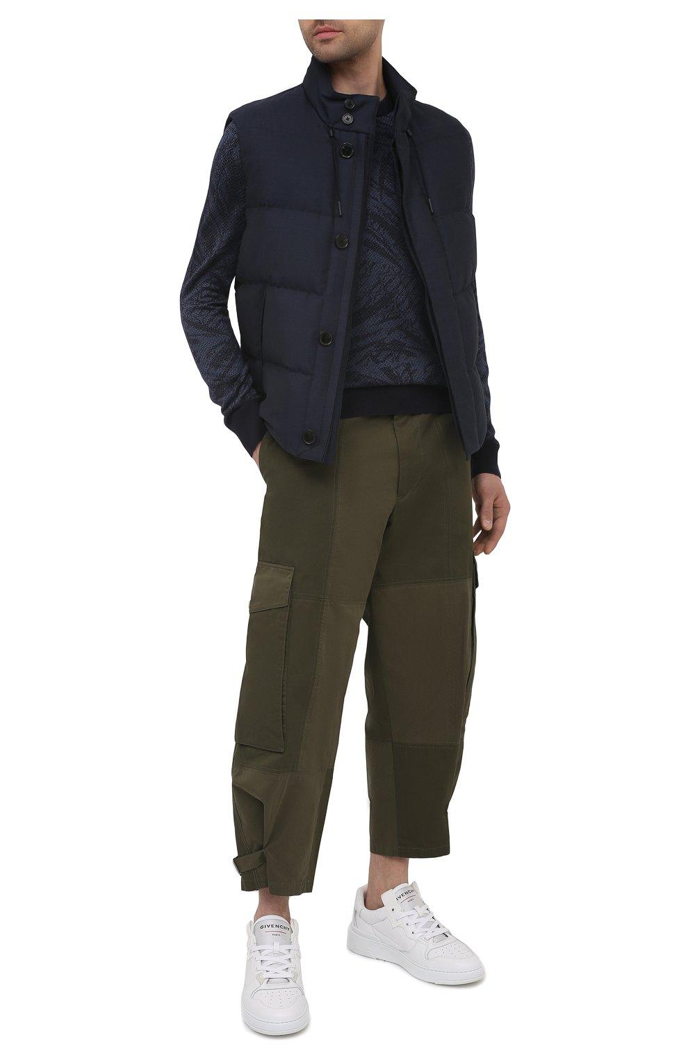 Мужской пуховый жилет ERMENEGILDO ZEGNA синего цвета, арт. UWT97/W116 | Фото 2