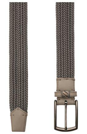 Мужской текстильный ремень ERMENEGILDO ZEGNA серого цвета, арт. BTRE3B/J1262A | Фото 2