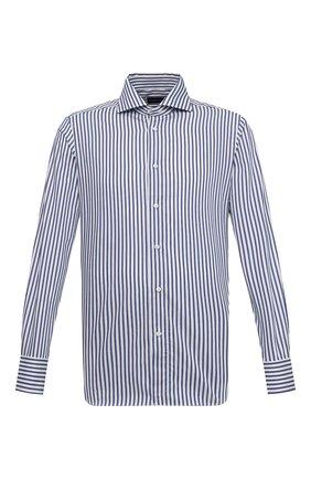 Мужская хлопковая сорочка ERMENEGILDO ZEGNA темно-синего цвета, арт. 901232/9MS0BA   Фото 1