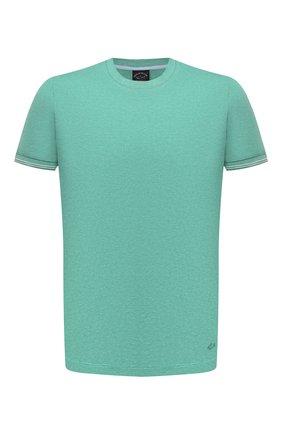 Мужская хлопковая футболка PAUL&SHARK светло-зеленого цвета, арт. 21411055/C00   Фото 1