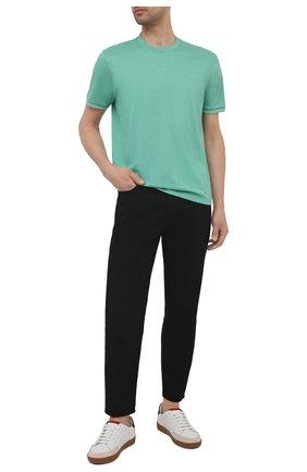 Мужская хлопковая футболка PAUL&SHARK светло-зеленого цвета, арт. 21411055/C00   Фото 2