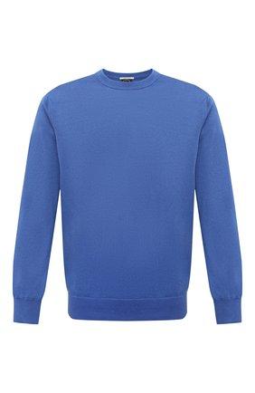 Мужской хлопковый свитер PAUL&SHARK синего цвета, арт. 21411550/C00 | Фото 1