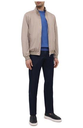 Мужской хлопковый свитер PAUL&SHARK синего цвета, арт. 21411550/C00 | Фото 2