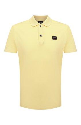 Мужское хлопковое поло PAUL&SHARK желтого цвета, арт. C0P1000/C00 | Фото 1