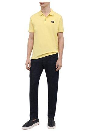 Мужское хлопковое поло PAUL&SHARK желтого цвета, арт. C0P1000/C00 | Фото 2