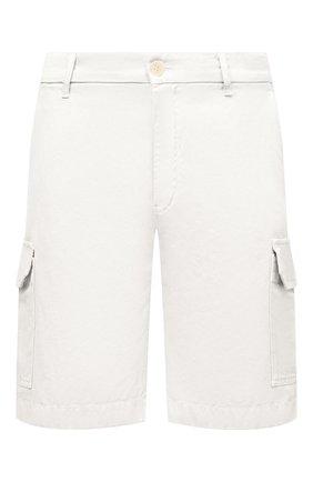 Мужские шорты из хлопка и льна LORO PIANA белого цвета, арт. FAL6339 | Фото 1