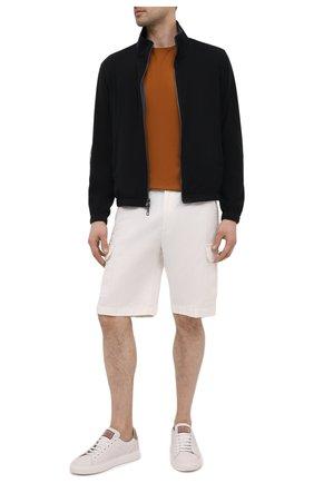Мужские шорты из хлопка и льна LORO PIANA белого цвета, арт. FAL6339 | Фото 2