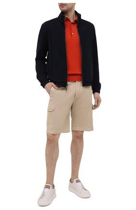 Мужские шорты из хлопка и льна LORO PIANA бежевого цвета, арт. FAL6339 | Фото 2 (Материал внешний: Хлопок, Лен; Длина Шорты М: До колена; Принт: Без принта; Мужское Кросс-КТ: Шорты-одежда; Стили: Кэжуэл)