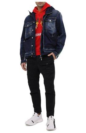 Мужской хлопковое худи DSQUARED2 красного цвета, арт. S74GU0508/S25042   Фото 2