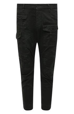 Мужские хлопковые брюки DSQUARED2 темно-зеленого цвета, арт. S74KB0537/S39021 | Фото 1