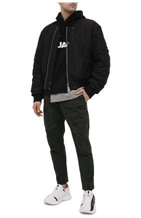 Мужские хлопковые брюки DSQUARED2 темно-зеленого цвета, арт. S74KB0537/S39021 | Фото 2