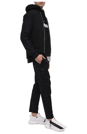 Мужские хлопковые брюки DSQUARED2 черного цвета, арт. S74KB0537/S39021   Фото 2