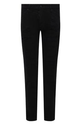 Мужские джинсы DSQUARED2 черного цвета, арт. S74LB0937/STN833 | Фото 1 (Длина (брюки, джинсы): Стандартные; Материал внешний: Хлопок; Стили: Гранж; Кросс-КТ: Деним; Силуэт М (брюки): Прямые)