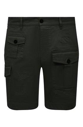 Мужские хлопковые шорты DSQUARED2 темно-зеленого цвета, арт. S74MU0661/S39021 | Фото 1
