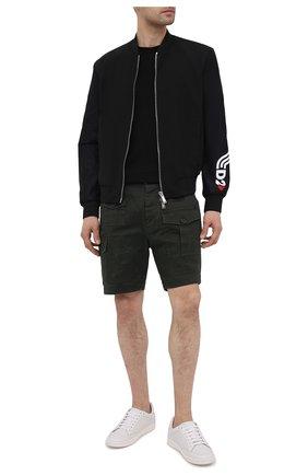Мужские хлопковые шорты DSQUARED2 темно-зеленого цвета, арт. S74MU0661/S39021 | Фото 2