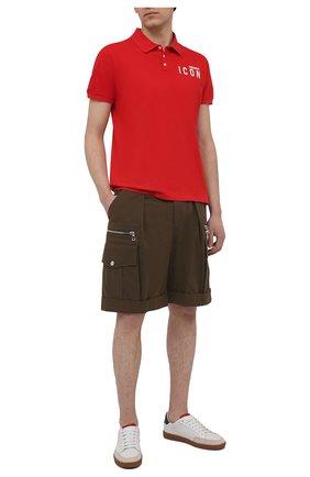 Мужское хлопковое поло DSQUARED2 красного цвета, арт. S79GL0001/S22743   Фото 2