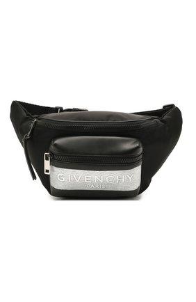 Мужская комбинированная поясная сумка light 3 GIVENCHY черного цвета, арт. BK5037K11K   Фото 1