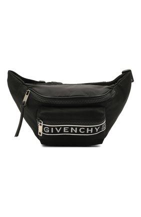 Мужская текстильная поясная сумка light 3 GIVENCHY черного цвета, арт. BK5037K128 | Фото 1
