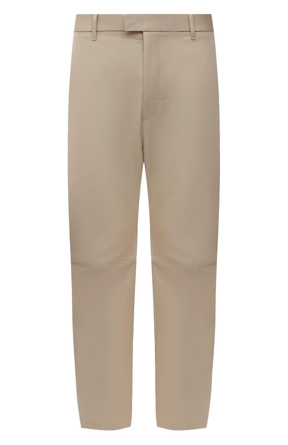 Мужские хлопковые брюки BOTTEGA VENETA бежевого цвета, арт. 647392/V0FJ0 | Фото 1 (Длина (брюки, джинсы): Стандартные; Случай: Повседневный; Материал внешний: Хлопок; Стили: Минимализм)