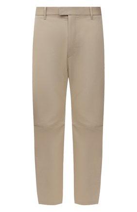 Мужские хлопковые брюки BOTTEGA VENETA бежевого цвета, арт. 647392/V0FJ0 | Фото 1 (Длина (брюки, джинсы): Стандартные; Материал внешний: Хлопок; Случай: Повседневный; Стили: Минимализм)