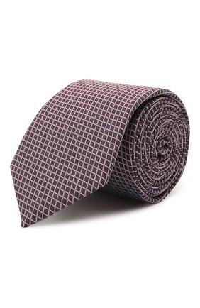 Мужской галстук BOSS сиреневого цвета, арт. 50452157 | Фото 1