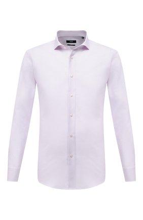Мужская хлопковая сорочка BOSS розового цвета, арт. 50450604   Фото 1