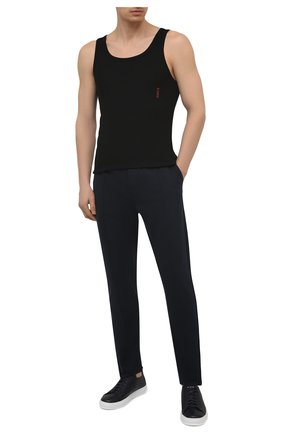 Мужская комплект из двух маек HUGO черного цвета, арт. 50408126 | Фото 2 (Длина (для топов): Стандартные; Материал внешний: Синтетический материал; Кросс-КТ: бельё; Мужское Кросс-КТ: Майка-белье)