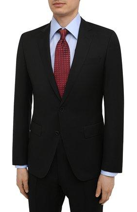Мужской шерстяной костюм BOSS черного цвета, арт. 50450410   Фото 2 (Материал внешний: Шерсть; Рукава: Длинные; Стили: Классический; Костюмы М: Однобортный)