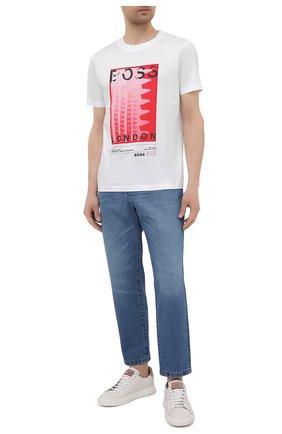 Мужская хлопковая футболка BOSS белого цвета, арт. 50450793   Фото 2