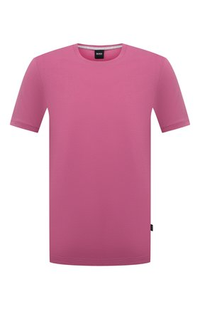 Мужская хлопковая футболка BOSS розового цвета, арт. 50379310   Фото 1