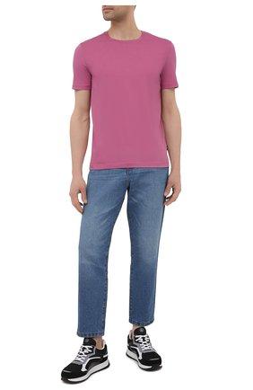Мужская хлопковая футболка BOSS розового цвета, арт. 50379310   Фото 2