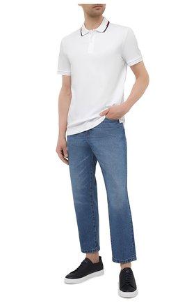 Мужское хлопковое поло BOSS белого цвета, арт. 50448657   Фото 2
