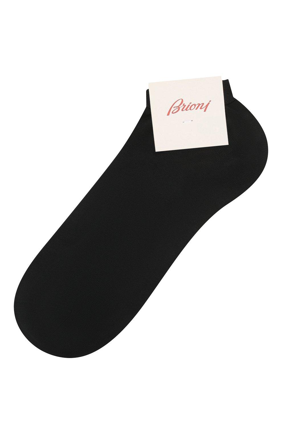Мужские хлопковые носки BRIONI темно-синего цвета, арт. 0VIM00/07Z01   Фото 1