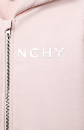 Детский хлопковая толстовка GIVENCHY розового цвета, арт. H05165 | Фото 3