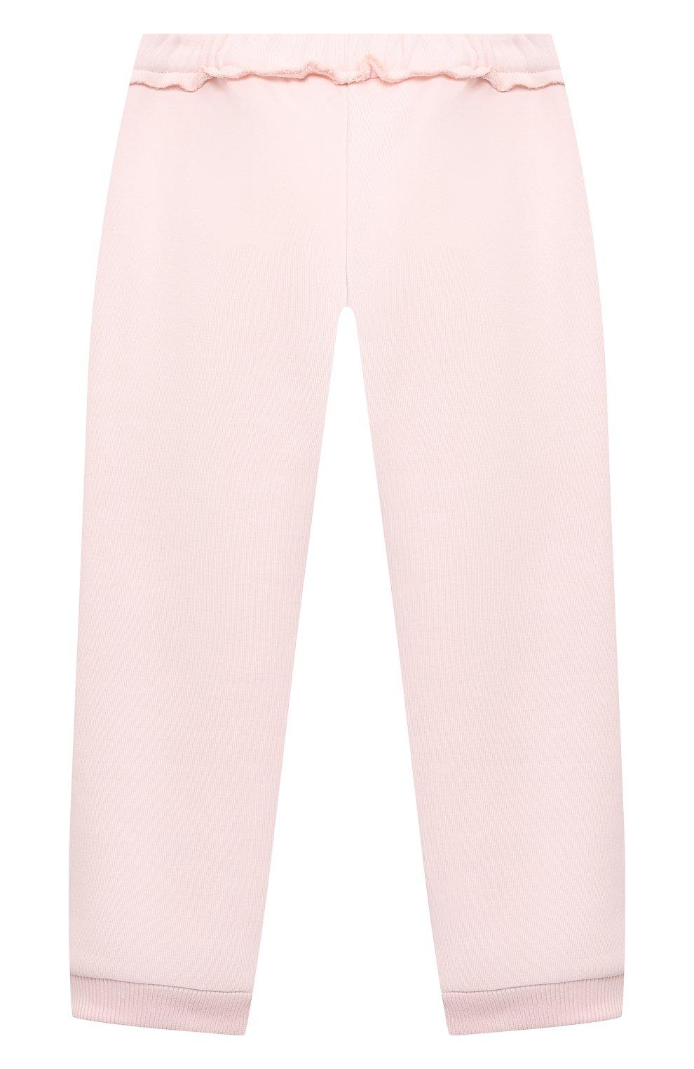 Детские хлопковые джоггеры GIVENCHY розового цвета, арт. H04103 | Фото 2