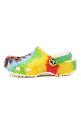 Детские сабо classic tie dye CROCS разноцветного цвета, арт. 205451-90H | Фото 2 (Материал внешний: Экокожа)