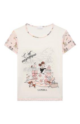 Детская пижама LA PERLA розового цвета, арт. 70211/2A-6A | Фото 2